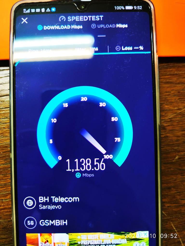 BHT 5G throughput